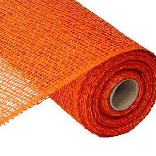 10″ Poly Burlap Mesh: Orange