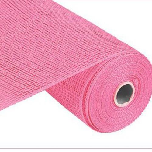 10″ Poly Burlap Mesh: Pink