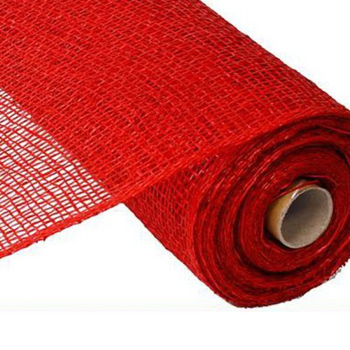 10″ Poly Burlap Mesh: Red