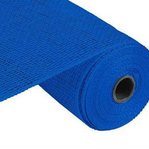 10″ Poly Burlap Mesh: Blue