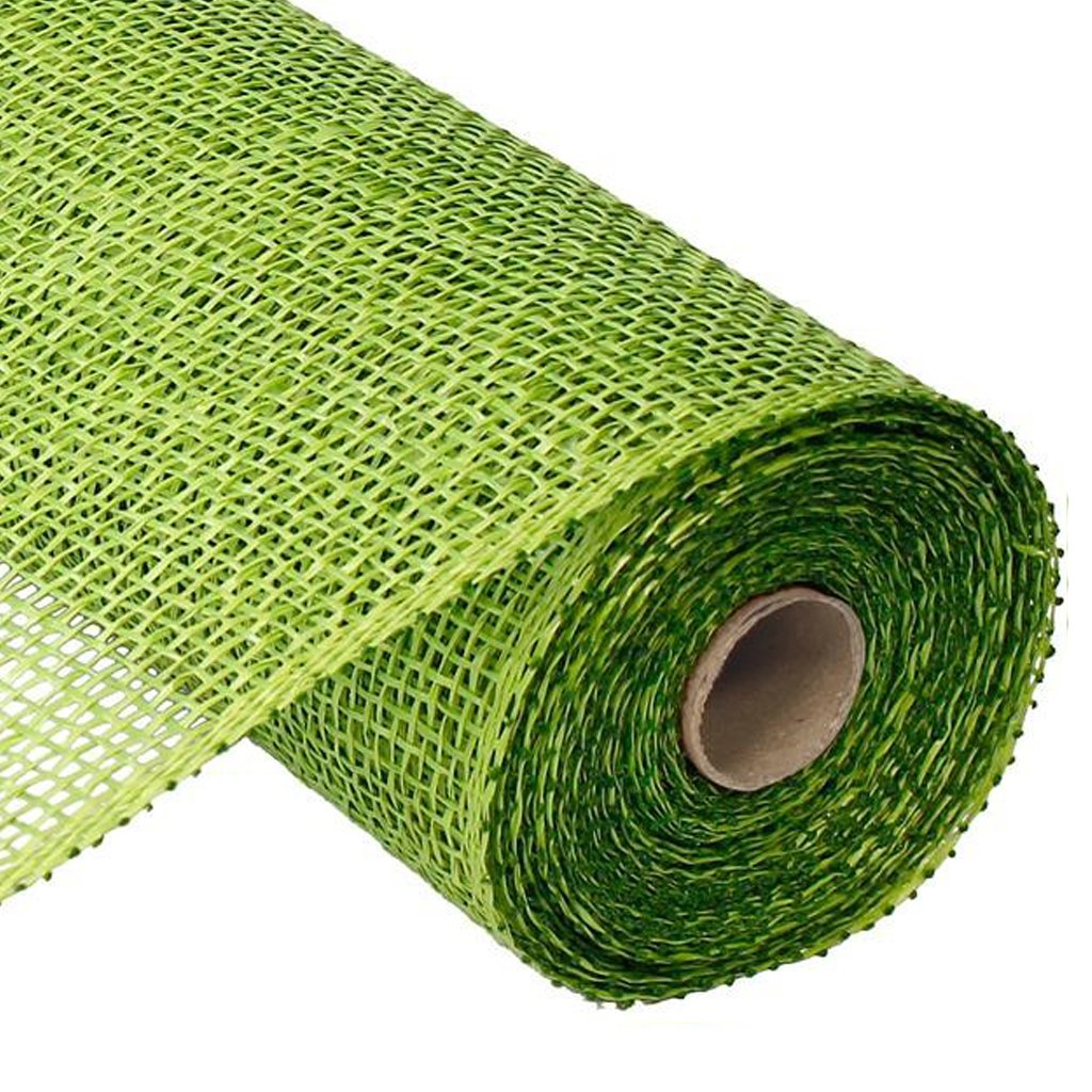 10″ Poly Burlap Mesh: Lime Green
