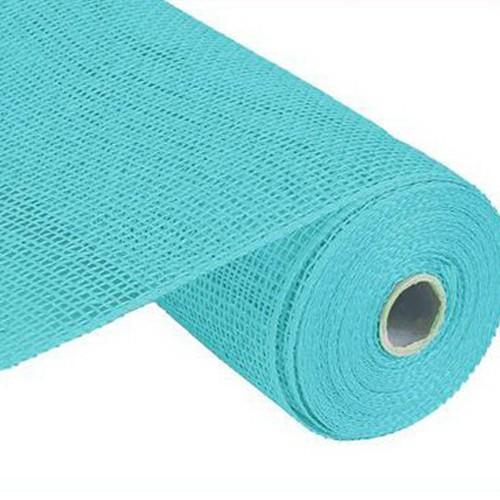 10″ Poly Burlap Mesh: Turquoise