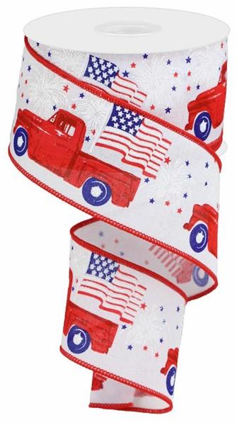 2.5″X10YD Patriotic Truck Ribbon