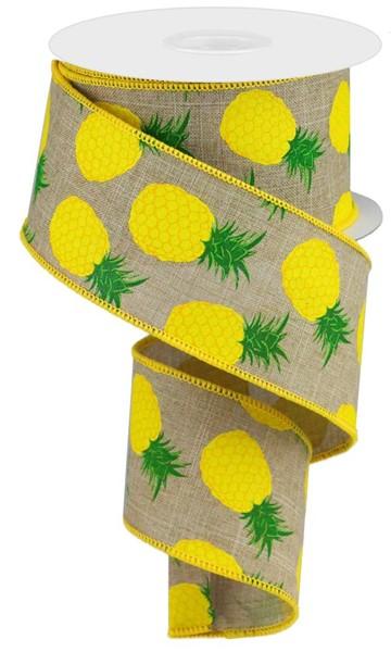 2.5″X10YD Pineapple Ribbon